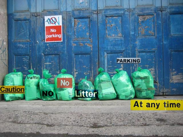 No rubbish poster