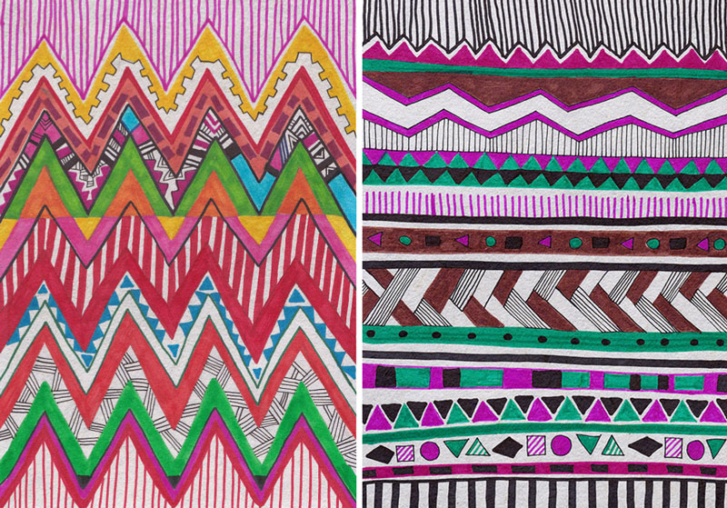 Aztec native navajo geometric motif african vibrant pattern background Facebook hipster tumblr society6 art design repeat artist freelance fabric textile fashion print trent SS14 abstract kaleidoscope 1 4