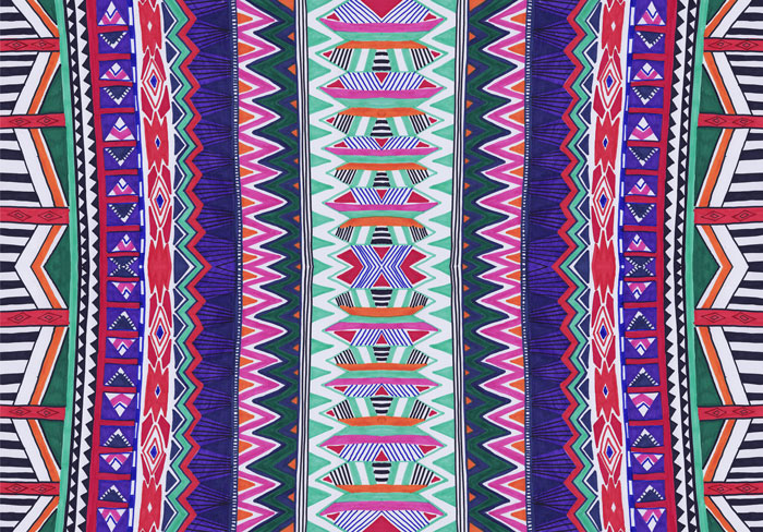 Aztec native navajo geometric motif african vibrant pattern background Facebook hipster tumblr society6 art design textile foo hand drawn tutorial cool