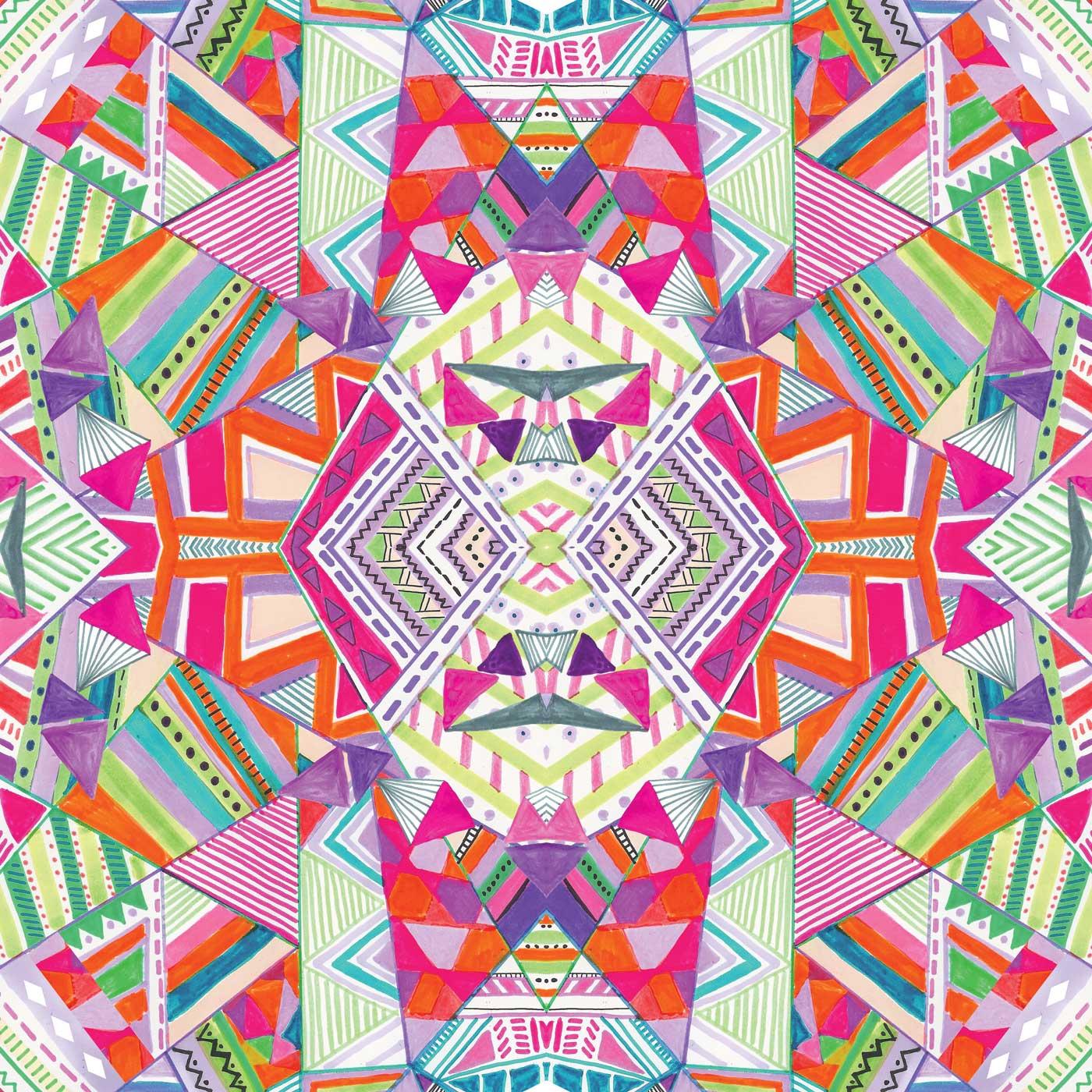 aztec-tribal-native-navajo-geometric-native-kaleidoscopic ... - photo#30