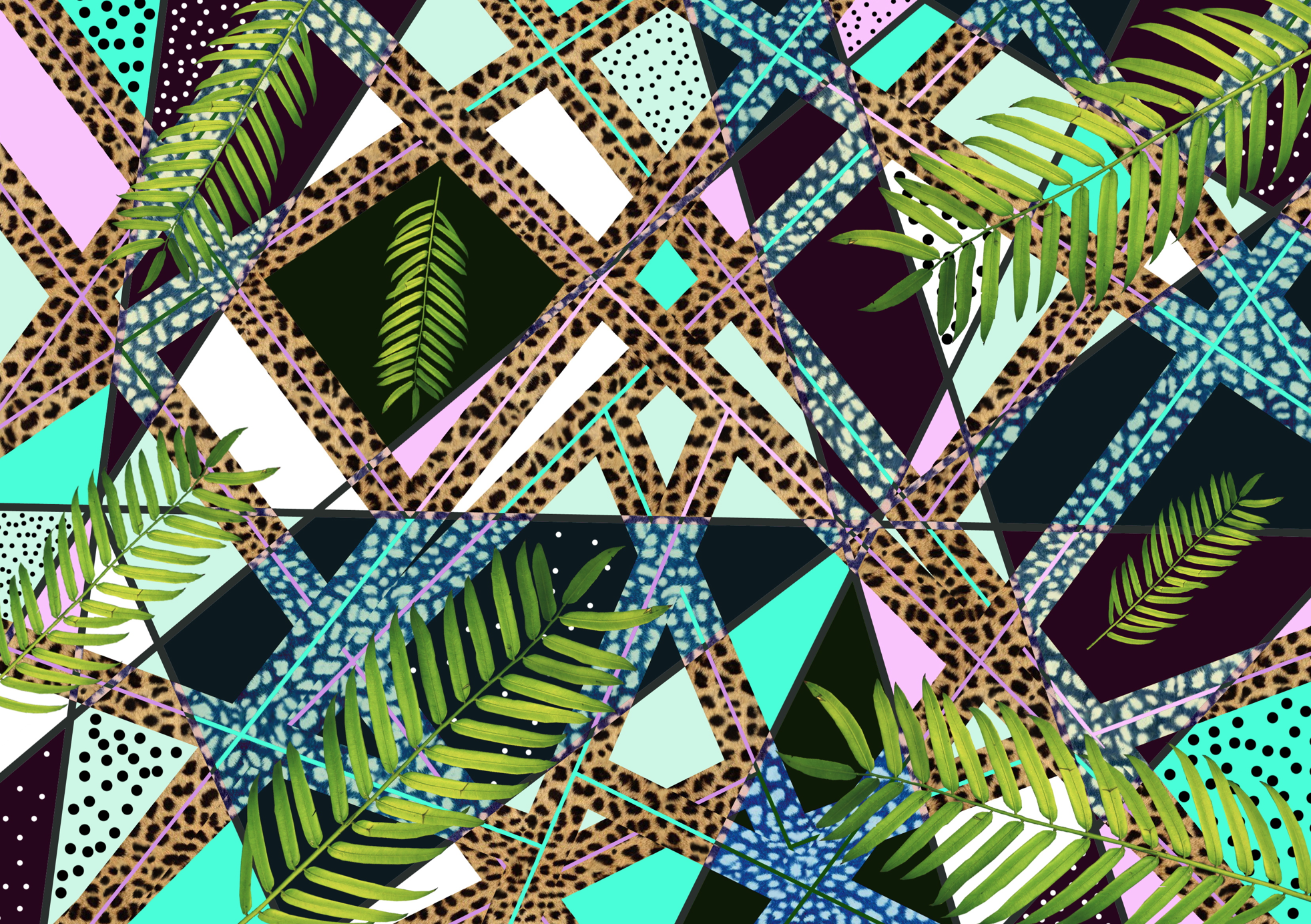 Background Pattern Artist Designer African Tropical