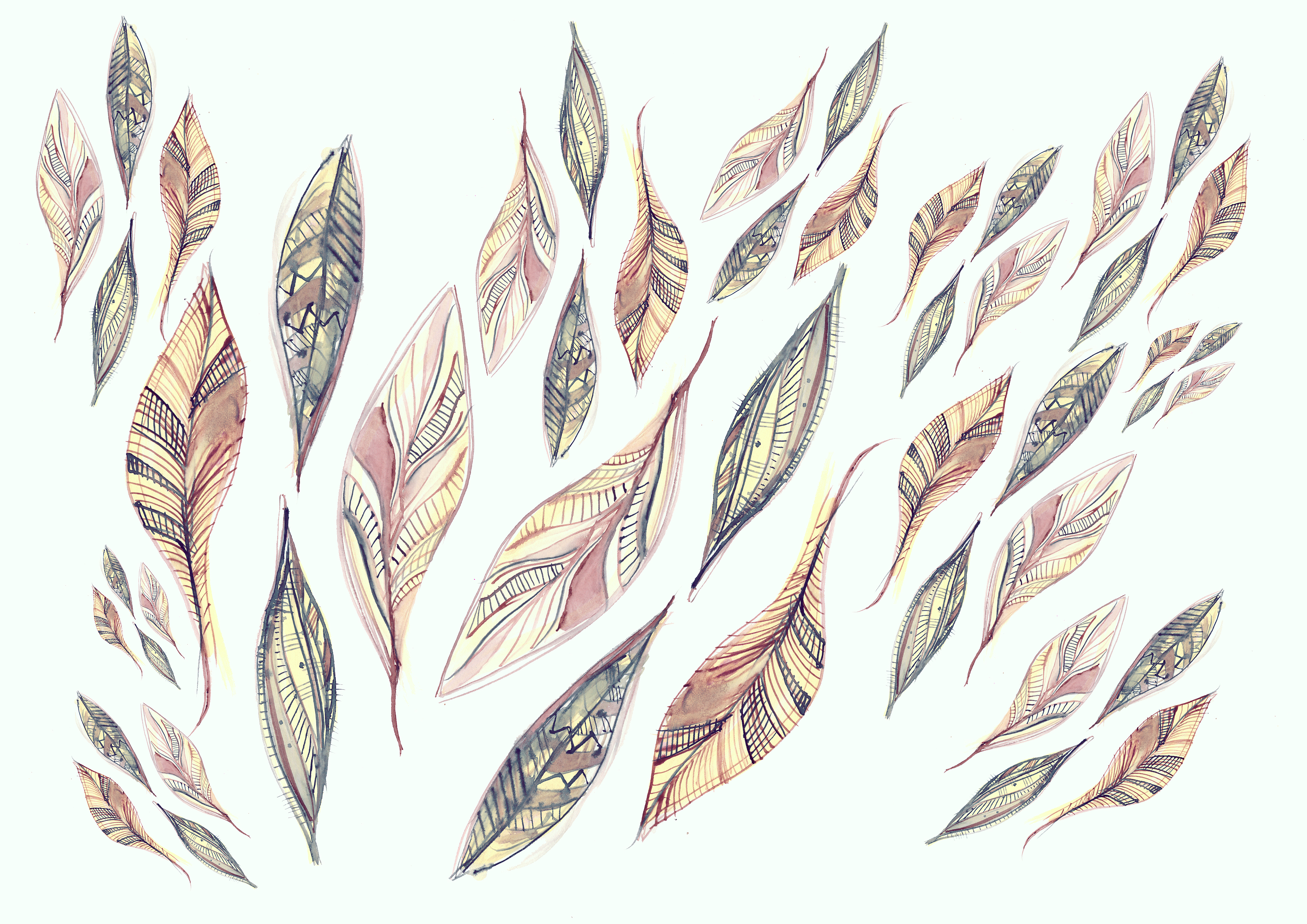 feathers drawing by vasare nar vasare nar art fashion