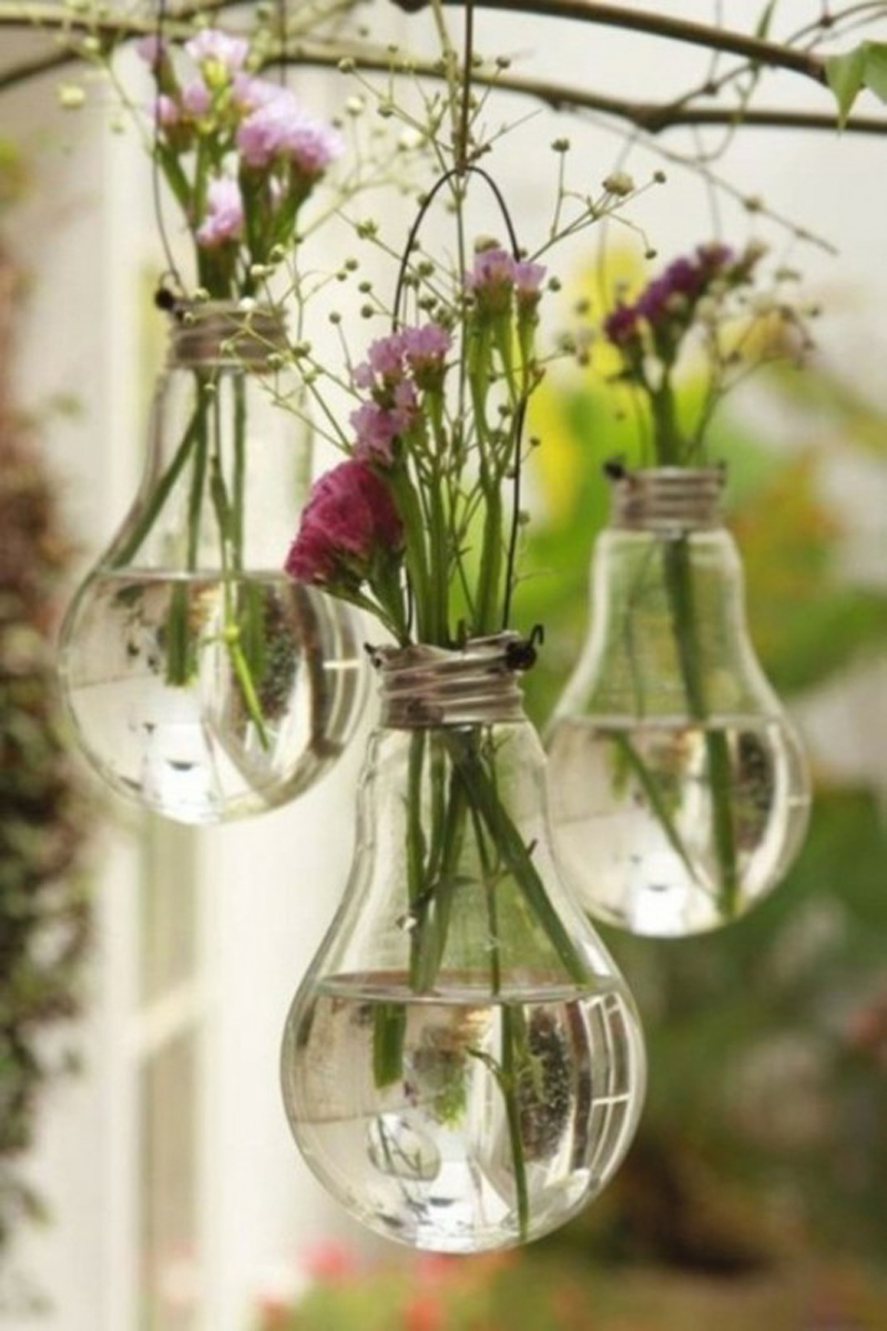 Lightbulb flower pot tutorial danielle diy - Flower vase decoration ideas ...