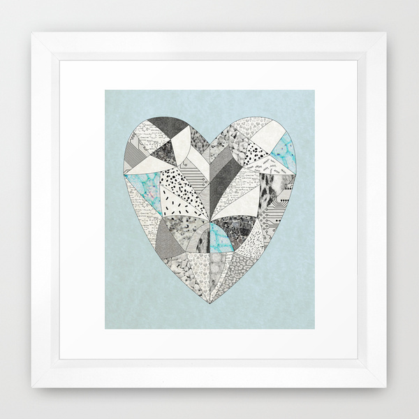 chemical reaction heart art print dorm decoration vintage society6 wall art hipster style trend magazine