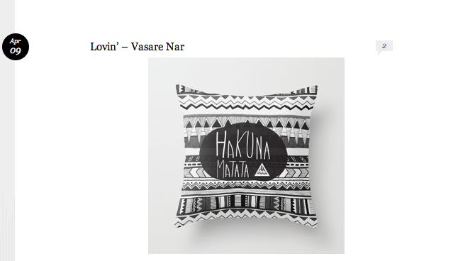 hakuna matata pillow feature blog post vasarenar