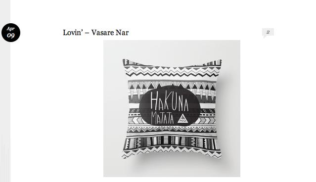hakuna matata pillow feature blog post vasarenar