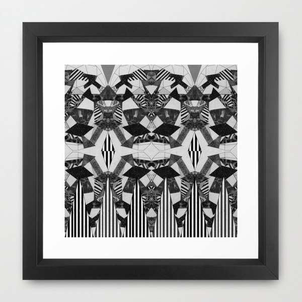 kaleidoscopic abstract art print home decor spychedelic black white tumbrl home vogue elle decoration dorm vasarenar society6 framed art
