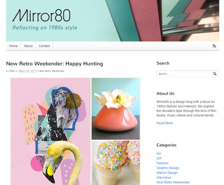 mirro 80 blog fashion collage art inspiration feature vasarenar art mixed media flamingo tropical