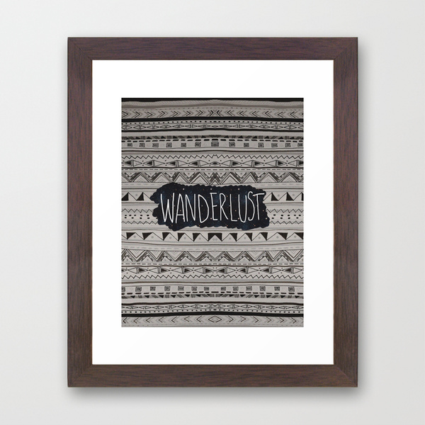 wanderlust art print aztec tribal design illustration pattern galaxy tumblr facebook travelling