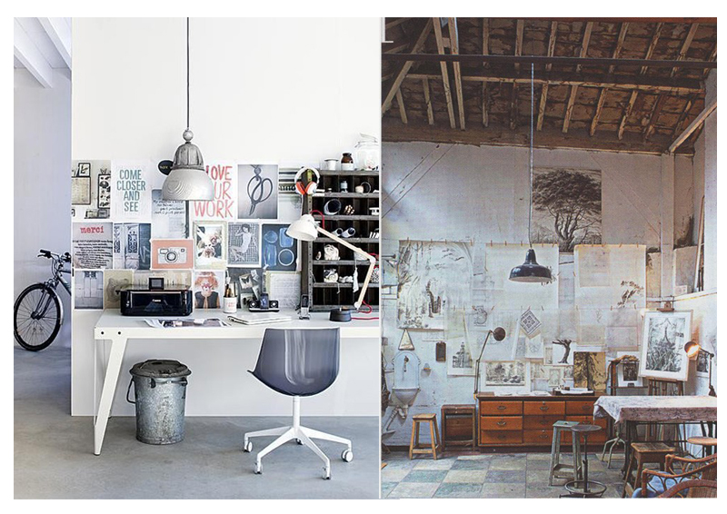 Home studio workspace decor ideas vasare nar art for Home design inspiration blog