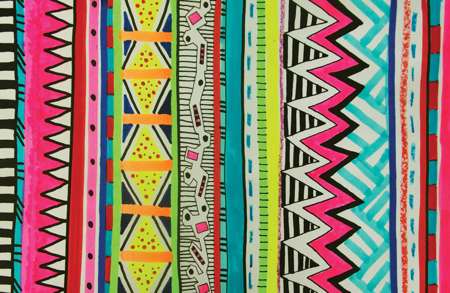 New pattern ! VIVID EYOTA | Vasare Nar Art Fashion ...