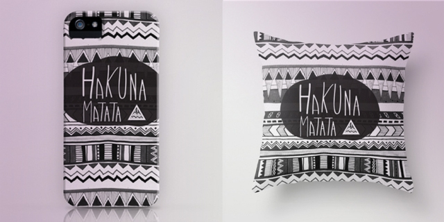 1 hakuna matata iphone case art creative design illustration print pillow hipster wanelo vasarenar native navajo geometric black white art phonecase skin home decor