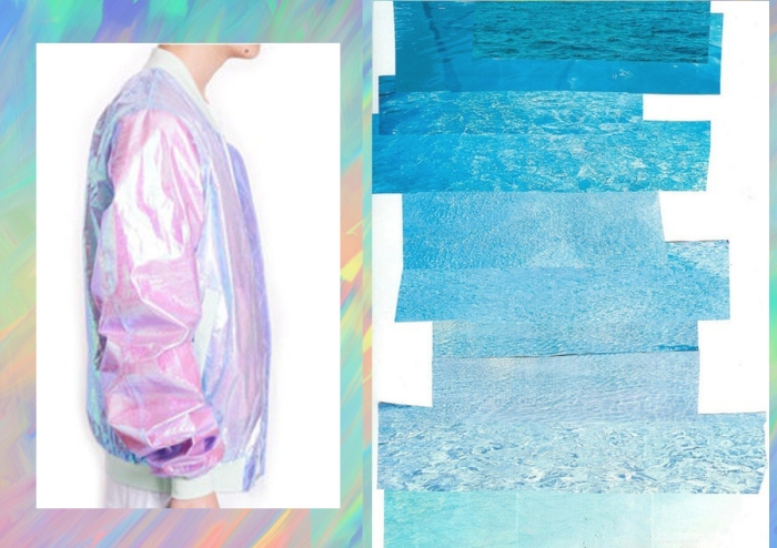 colour inspiration fashion holographic pastel photo collage inspiration pinterest moodboard holographique голографический