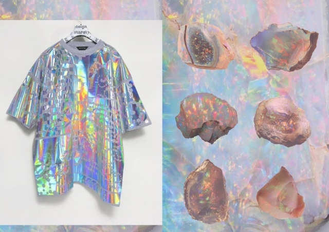 holographic-colour-opalescent-nacreous-pearlescent-iridescent inspiration fashion pattern trend 2013 2014 art textile vogue 1