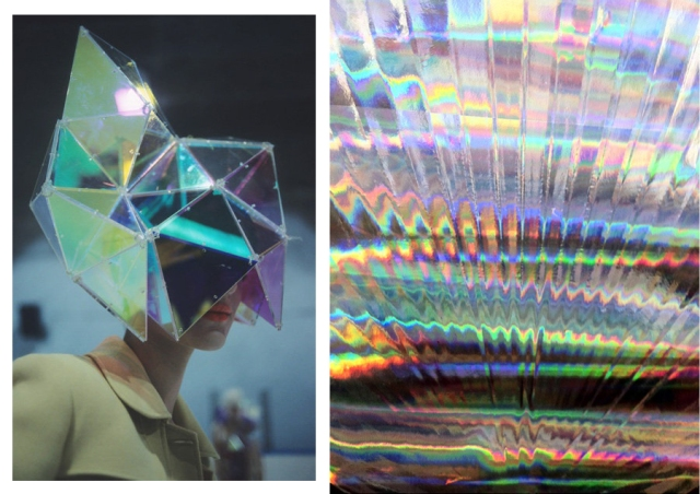 holographic-colour-opalescent-nacreous-pearlescent-iridescent inspiration fashion pattern trend 2013 2014 art textile vogue