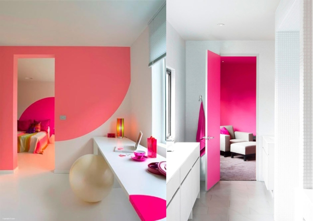 home interior pink detail wall house blog pantone inspiration white space домашний декор Wohnkultur namų dekoro decoración del hogar