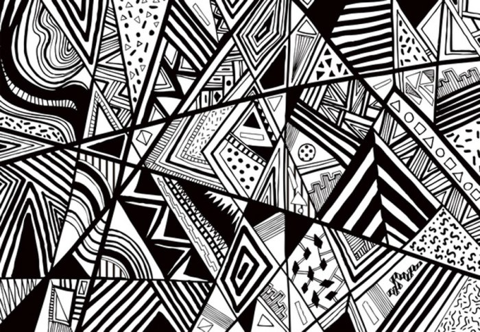 Cool Line Art Designs : The gallery for gt cool black and white designs to draw