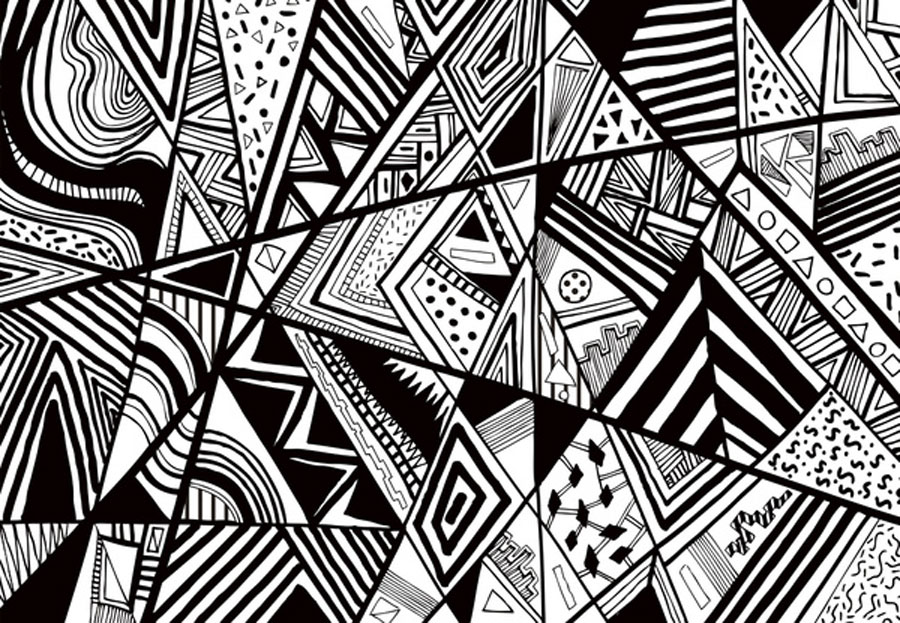 Delicieux Art Design Pattern Monotone Black White Graphic Vector