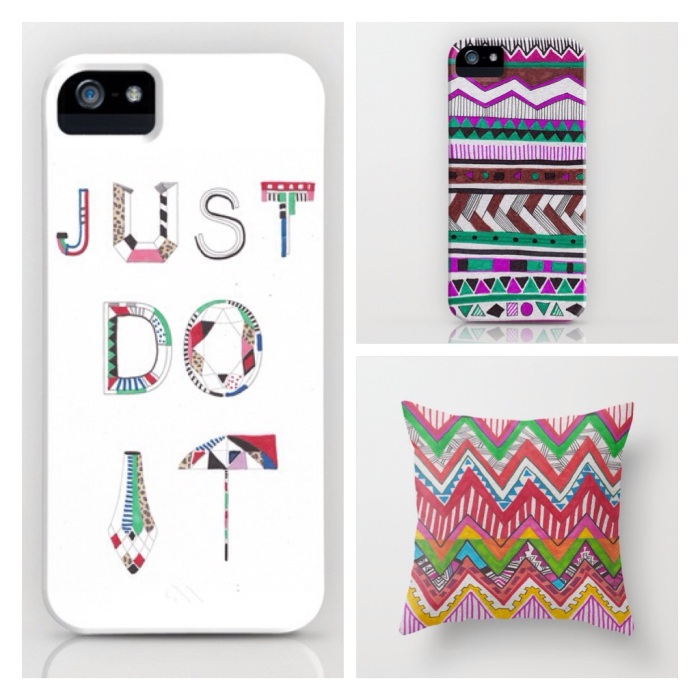 aztec tribal native iphone society6 nike just do it slogan typography iphone5 iphonecover hipster cool vasarenar shop gift art pattern design
