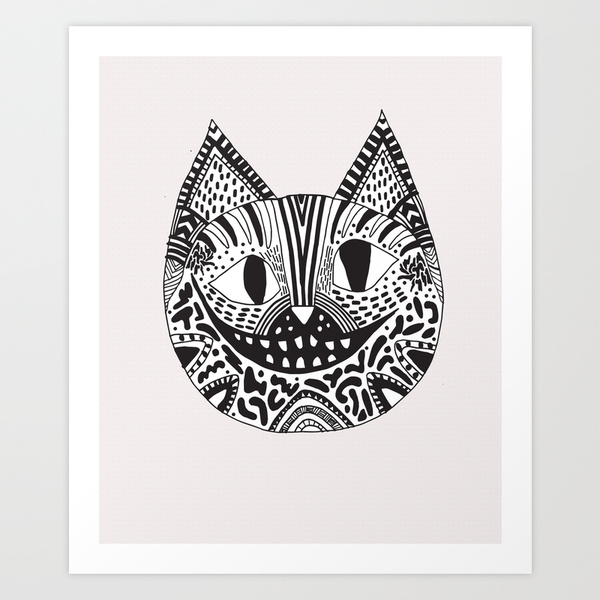 chechire cat alice in wonderland illustration cat drawing cool creative disney black white