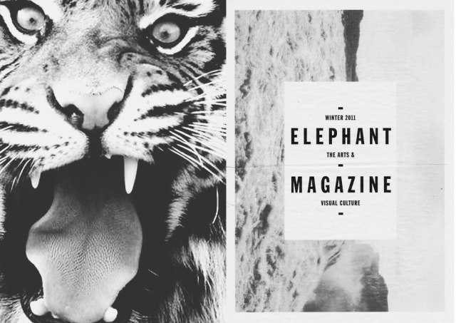 elephant-magazine-black-white-bw-monotone-inpiration-art-collage-maagzine-tiger-animal-blog