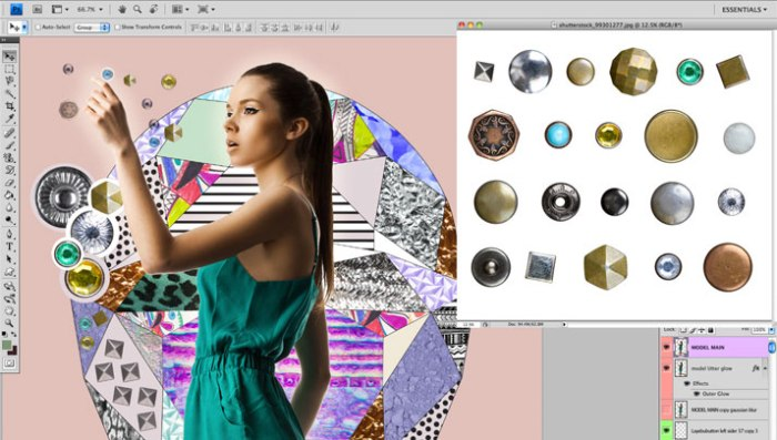FASHION tutorial collage art design shutterstock inspiration designer vasare nar aztec tribal native geoemtric vector photography digital art mixed media illustration art magazine NYFW Trend photoshop illustrator