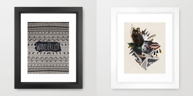 art-print-design-illustration-cat-kitten-cool-framed-design-wanderlust-aztec-navajo-print-living-