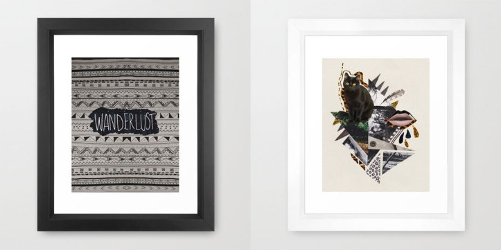 art-print-design-illustration-cat-kitten-cool-framed-design-wanderlust-aztec-navajo-print-living-