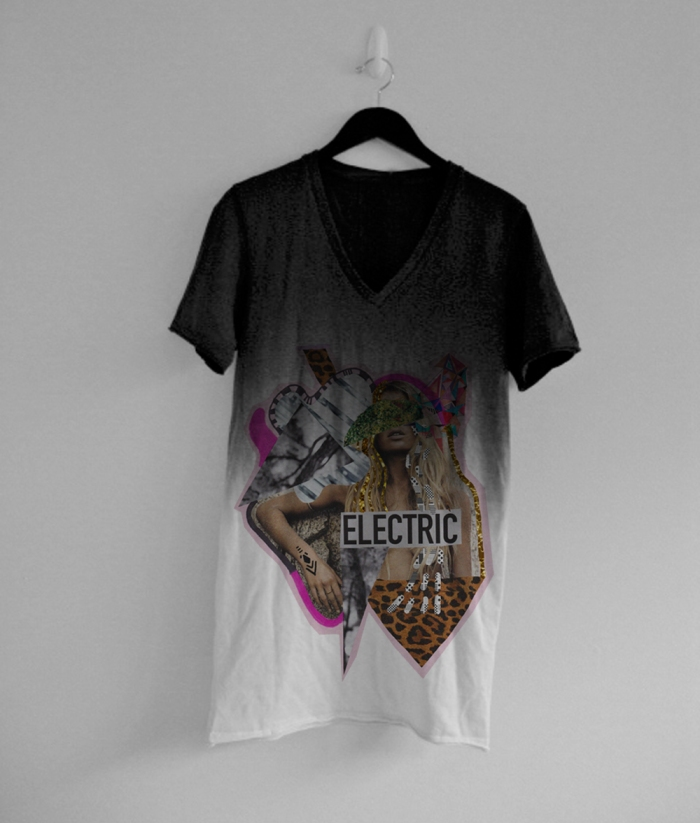 fashion tee vasare nar designer clothing boho graphic topshop urban outfitters collection summer 2014 2015 animal print dip dye ombre style cool chic hipster