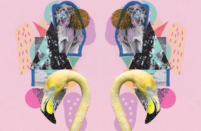 FLAMINGO-LAND-ART-PRINT-COLLAGE-MIXED-media-design-vasarenar-TROpical-artist-shutterstock-design-creative-cool-appareal-topshop-urban-outfitters-kitch-hipster-pink-pastel-tumblr--kaleidoscopic-