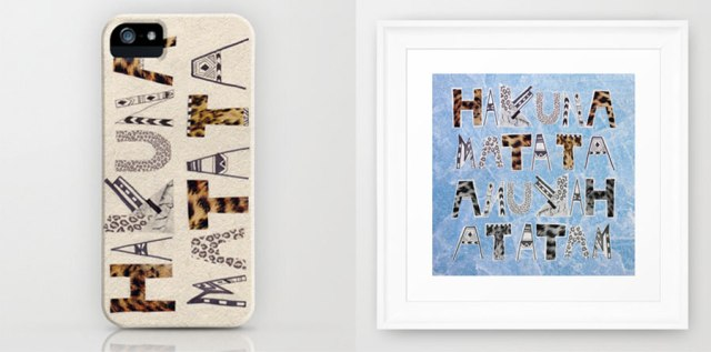 hakuna-matata-iphone-case-art-print-society6-case-cool-lionKing-disney-leopard-animal-print-vasarenar-typography-creative-collage
