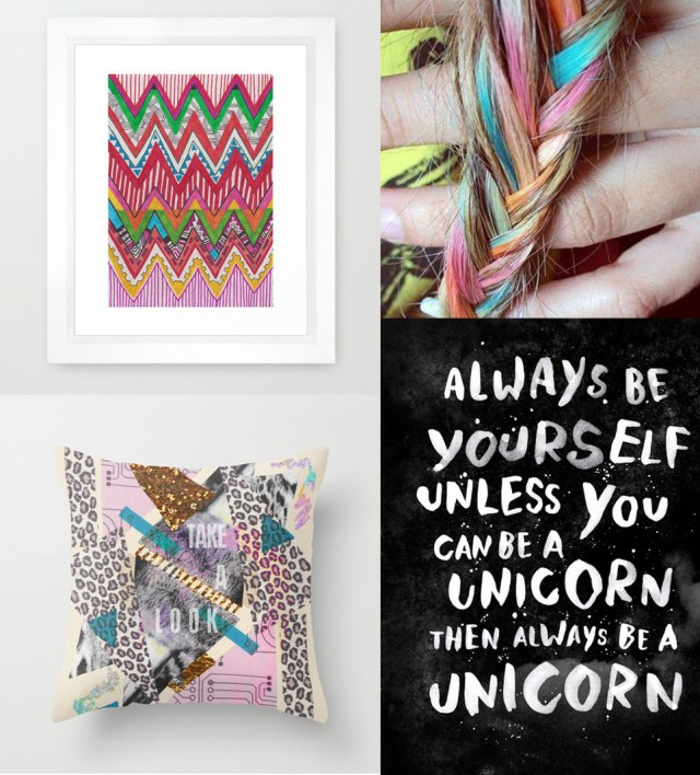 peruvian-PATTERN-always-be-yourself-unless-you-can-be-unicorn-quote-tumblr-poster-art-design-aztec-tribal-hipster-hair-chalk-shopping-list-ideas-gift-society6-