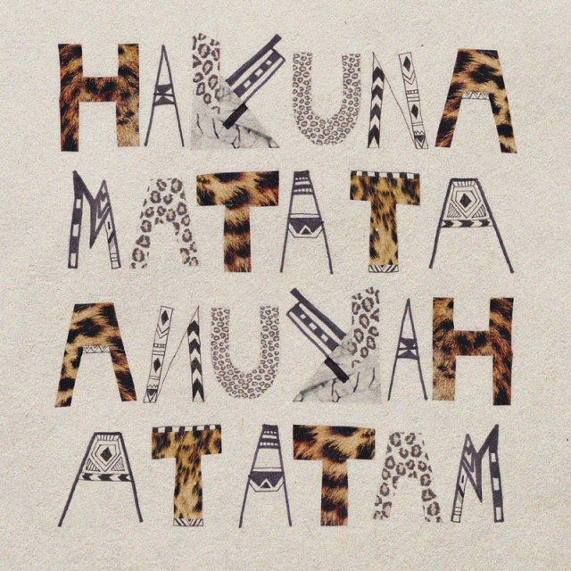 typography-leopard--Hakuna-Matata-art-print-illustration-home-decor-LionKing-Disney-noworries-possitive-message-cool-hipster-vintage-typography-illustrated-type-cute-vasarenar