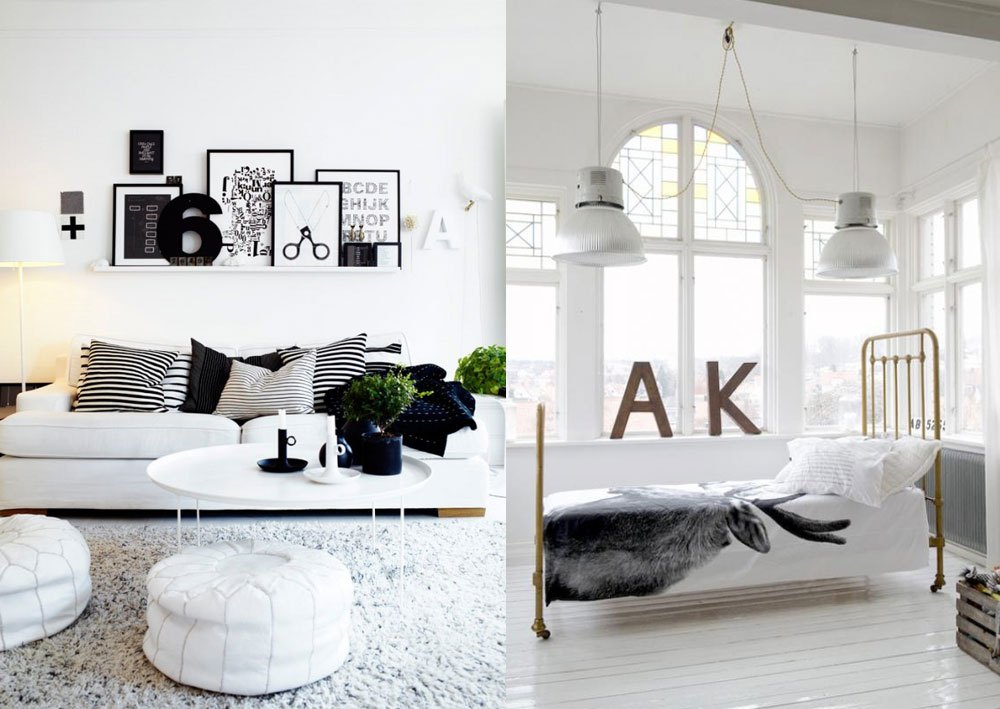 Home interior inspiring ideas vasare nar art fashion for Interior house designs black and white