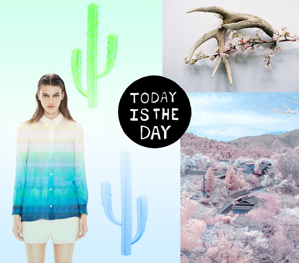 Today Is The Day Quote Tumblr Collage Art Design Montage Fashion Style Photography Typography