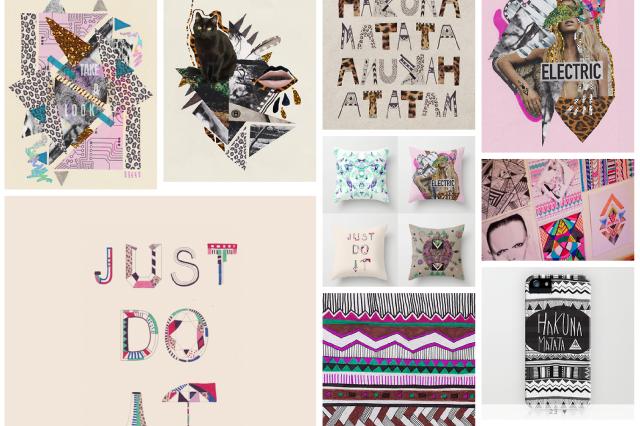 art design portfolio illustration pattern collage mixed media just do it nike urban outfitters topshop inspiration magazine vasarenar designer aztec navajo trend 2014 2015 summer textile tumblr facebook