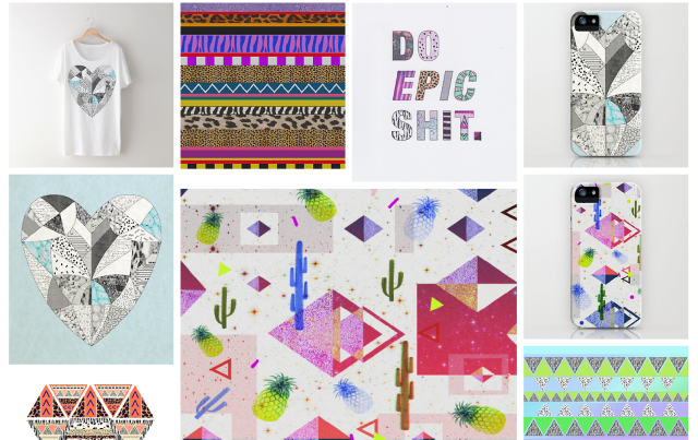 art design portfolio illustration pattern collage mixed media just do it nike urban outfitters topshop inspiration magazine vasarenar designer aztec navajo trend 2014 2015 summer textile tumblr facebook hakuna matata tropical cactus clothing