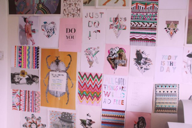 art-wall-design-inspiration-pattern-freelance-designer-textile-topshop-urban-outfitters-instore-interior-poster-zine-aztec-tribal-hipster-just-do-it-nike-tutorial--mixed-media-motif-bolg-