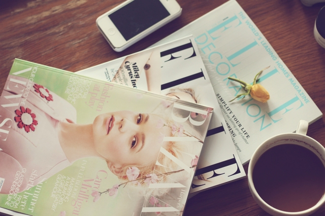 coffee magazine elle bazaar iphone reading collage inspiration cool art