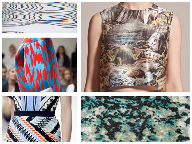 fashion trend inspiration forecast trend 2015 2016 2014 summer spring print textile design designer zig zag colour  vogue elle modern repeats motif stylish moodboard 3
