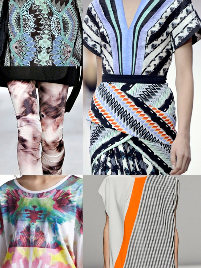 fashion trend inspiration forecast trend 2015 2016 2014 summer spring print textile design designer zig zag colour  vogue elle modern repeats motif stylish moodboard  design