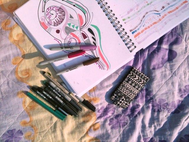 art-design-illustration-WIP-work-in-progress-drawing-freelance-designer-illustrator-sharpie-markers-fine-liner-cool-tutorial-how-to-design-draw-fashion-trend-2016-pencil-fineliner