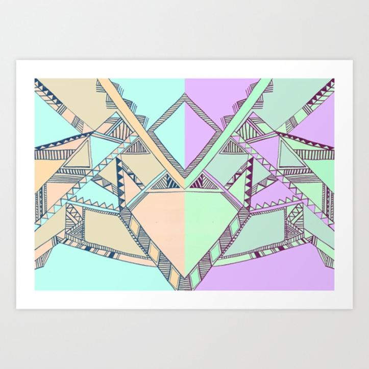 aztec tribal native navajo print illustration drawing iat purple electirc cool artistic society6