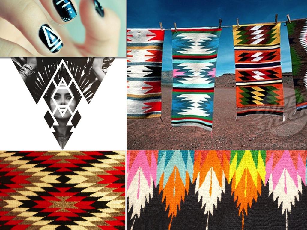 Indian Art Ikat Navajo Feather Boho Aztec African Rug