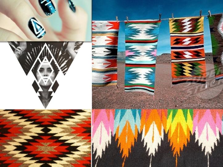 indian art ikat navajo feather boho aztec african rug print geometric inspiration moodboard magazine trend 2015 2016 summer