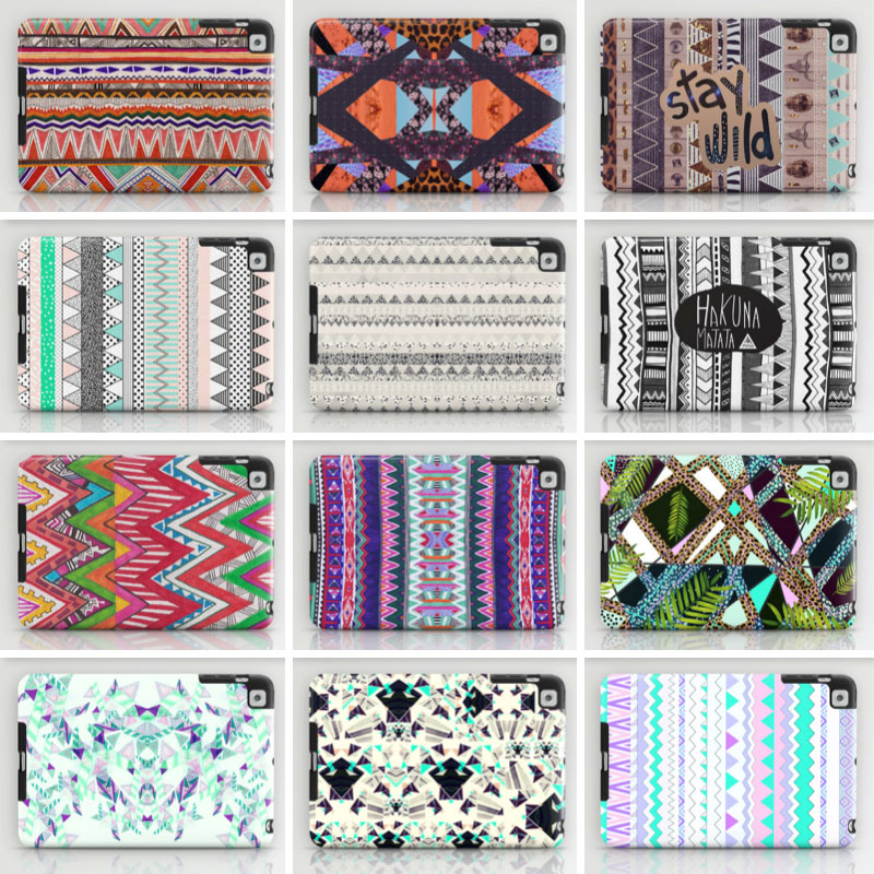 ipad-cases--MINI-tribal-boho-cool-topshop-urban-outfitters-style-hakuna-matata-unique-native-motif-colourful-peach-electric-leopard-tropical-geometric-designer-society6-chevron-mint-hipster