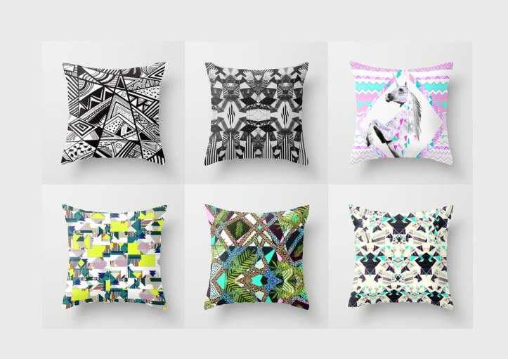 pillow-society6-home-dorm-inspiration-decor-interior-society6-black-white-dorm-palm-tropical-topshop-urban-outfitters-room-bedroom-hipster-cool-neon-textile-artist-chevron-zebra-background-tumblr-
