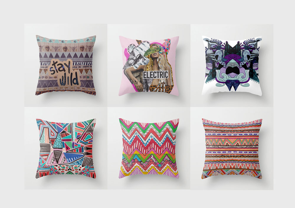 pillows art design textile hipster fashion society6 urban outfitters topshop home dorm. Black Bedroom Furniture Sets. Home Design Ideas