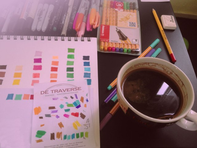stabilo-markers-pens-drawing-black-coffee-artists-designer-illustator-pens-fine-liners-review-sharpie-pro-marker-cool-pantone-colour-test-sample-peach-sharpies