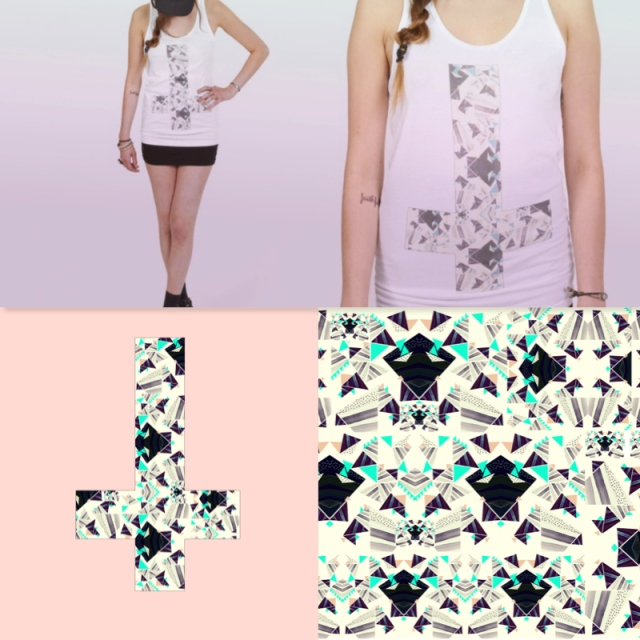 total madness cross tee fashion style american apparel pattern electric cool model tee summer design peach